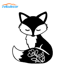 15 19cm Fox Fowers On Tail Cute Car Decor Vinyl Decal For Laptops Cover Cars Window Animals Decoration Removable L847 Car Stickers Aliexpress