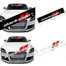 Car Front Rear Windshield Banner Decal For Darkside Motoring Reflective Sticker Ebay