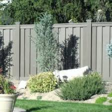 Trex Seclusions 6 Ft X 8 Ft Winchester Grey Wood Plastic Composite Board On Board Privacy Fence Panel Kit Fence Design Privacy Fence Panels Wood Fence Design