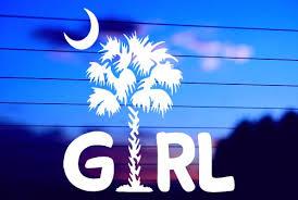 Carolina Girl Car Decal Sticker