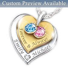 engraved birthstone necklace