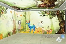 Tree House Animals Entire Room Wallpaper Wall Murals Art Print Childca Idecoroom