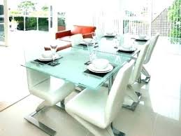 modern glass dining table with