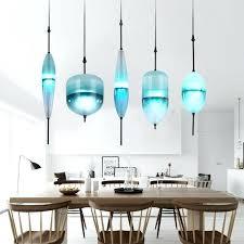 cool blue pendant light fixtures modern