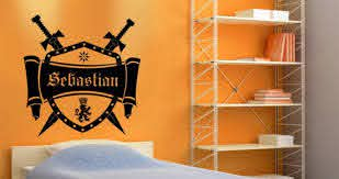 Personalized Medieval Crest Wall Decals Dezign With A Z