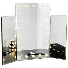 trifold dressing table makeup mirror