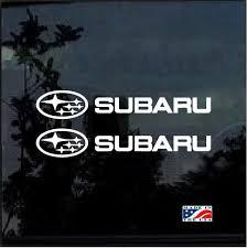 Subaru Wrx Sti Impreza Forester Set Of 2 Jdm Car Window Decal Stickers Custom Sticker Shop