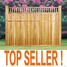 7ft X 8ft Wide Cedar Wood Fence Sections Picket Top Good Neighbor