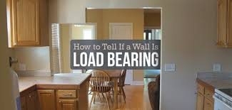 how to identify a load bearing wall
