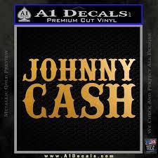 Johnny Cash Decal Sticker D2 A1 Decals