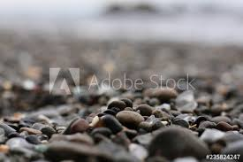 sea glass on the beach this stock