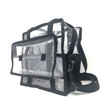 um clear set bag wth tissue holder