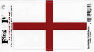 Amazon Com St George England Flag Car Decal Sticker 3 5x5 White Red Everything Else