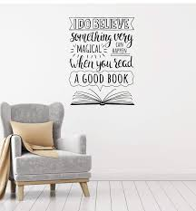 Vinyl Wall Decal Open Book Inspirational Quote Reading Room Library In Wallstickers4you