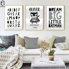 Superhero Dream Big Kids Room Decor Wall Art Poster Prints Modern Canvas Painting Modular Wall Picture For Nursery Bedroom Painting Calligraphy Aliexpress