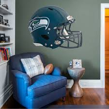 Fathead Seattle Seahawks Helmet Huge Officially Licensed Nfl Removable Wall Decal Walmart Com Walmart Com