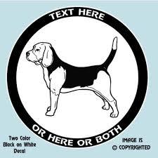 Beagle Hound Dog 2 Color Personalized Custom Vinyl Decal
