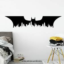 Delicate Batman Superhero Wall Art Decal Games Room Stickers For Boy City Silhouette Wall Murals Poster Kids Batman Decor Af019 Wall Stickers Aliexpress