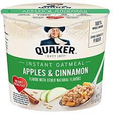 quaker instant oatmeal express cups