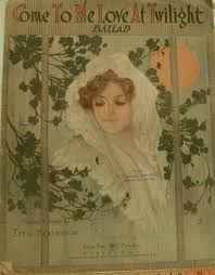 Come To Me Love At Twilight, sheet music by Effie Henderson, 1914, fair  shape, Vintage (With images)   Vintage sheet music, Sheet music, My love