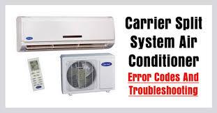 carrier split air conditioner ac error