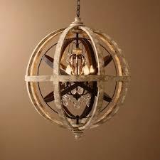 globe chandelier metal orb crystal