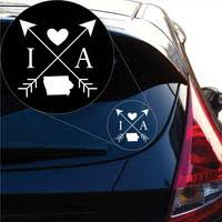Iowa Love Cross Arrow State Ia Decal Sticker For Car Window Laptop An Yoonek Graphics