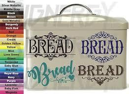 Bread Box Vinyl Decals Sticker Choice Design Color Tin Storage Custom Unique 5 95 Picclick