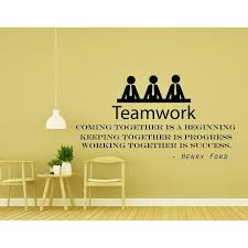 Shop Quote Wall Decal For Office Teamwork Vinyl Decals Overstock 31804603