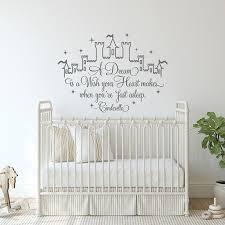 Fairy Castle Wall Decals Quotes A Dream Is A Wish Cinderella Wall Stikcker Vinyl Nursery Decor Children Girls Room Decor Z990 Wall Stickers Home Garden Aliexpress
