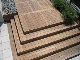 ipe deck and cultured stone paver