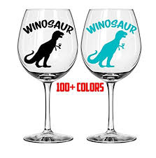 Amazon Com Celycasy Winosaur Wine Glass Decals Bachelorette Party Custom Decal Sticker Wedding Decals Tumbler Decals Wine Tumbler Decal Champagne Flute Decal Baby