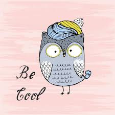 vector ilration of cute cartoon owl