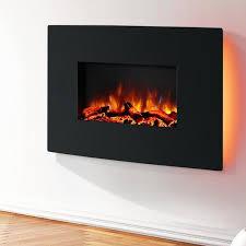egton black wall mounted electric fire