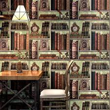 3d Creative Bookshelf Library Pattern Wallpaper Study Kids Room Living Room Bedroom Cafe Tv Background Wall Paper Wall Stickers Aliexpress