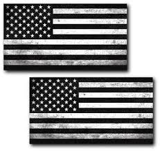 2 Grunge Black And White American Flag Decal Car Truck Marines Army Vinyl Auto 1 Ebay