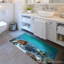 Slip Proof Sea Fish And Turtle Floor Sticker Ome Decal Pastoral Mural Wall Art Pastoral Poster Bathroom 3d Effect Floor Stickers Wall Stickers Murals Wall Stickers Nursery From Tizohomeinternation 22 66 Dhgate Com