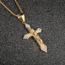 18k gold plated cz cross