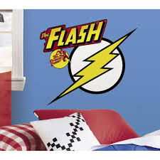 Roommates 5 In X 19 In Classic Flash Logo Peel And Stick Giant Wall Decals Rmk2399gm The Home Depot