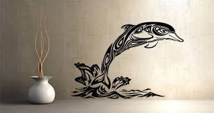 Tribal Dolphin Wall Decals Dezign With A Z