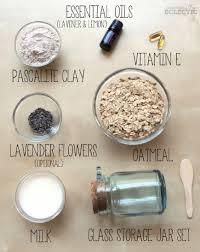 lavender and lemon oatmeal mud mask