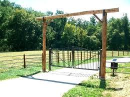 Ranch Entryways Residential Entry Gates Farm Rustic Muconnect Co