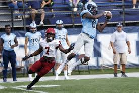 Aaron Parker of Rhode Island is dominating the CAA and has NFL size