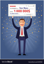 check for one million dollars vector image
