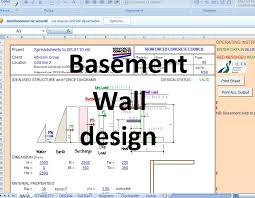 basement wall design excel sheet