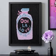 Anna Sui Ooh La Love Hook And Loop Wall Art Teen Decor Sale Pottery Barn Teen