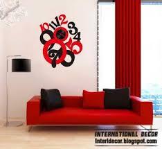 Modern Wall Clock Stickers Styles Clock Stickers Colors International Decor Diy Home Interior Wall Clock Sticker Modern Wall Decals