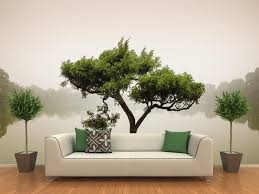 Chinese Bonsai Tree Wall Mural Majestic Wall Art