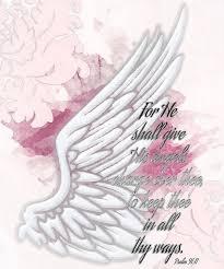 Psalm 91 11 Poster By Michelle Greene Wheeler