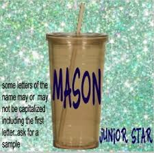 Monogram Vinyl Decal For Your Tumbler Cups Personalized Name Decal Kids Boy Girl Ebay
